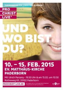 PROCHRIST LIVE Plakat 2015