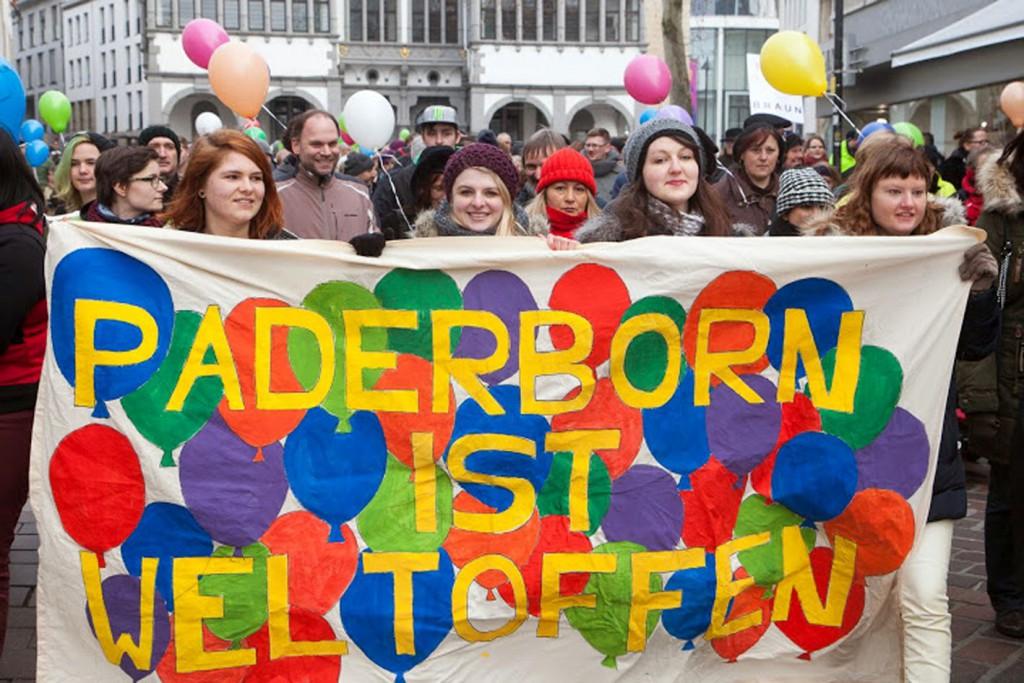 Kundgebung für Toleranz und Willkommenskultur. Foto: Wolfgang Dzieran