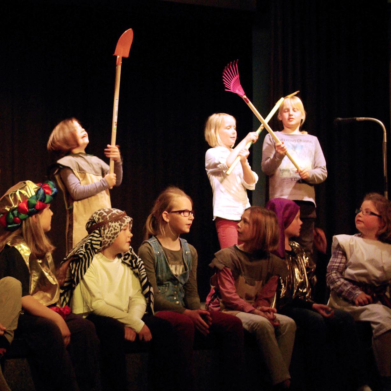"""Mitmach-Musicalaufführung war ein Erfolg """"Joseph, ein echt cooler Träumer"""" mit 28 Kindern"""
