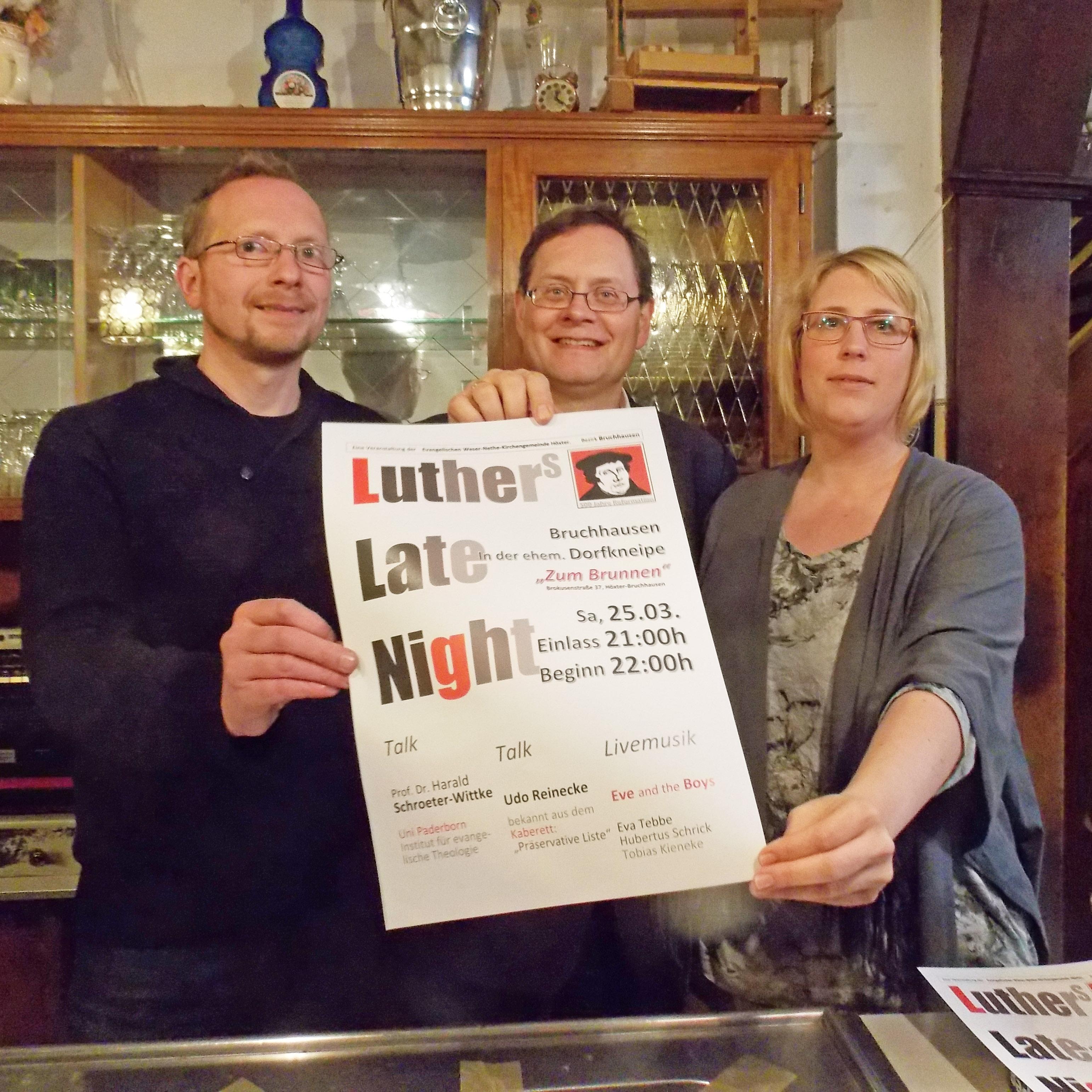 """Livemusik und Talk am 25. März in Bruchhausen Luther-Late-Night in ehemaliger Gaststätte """"Zum Brunnen"""""""