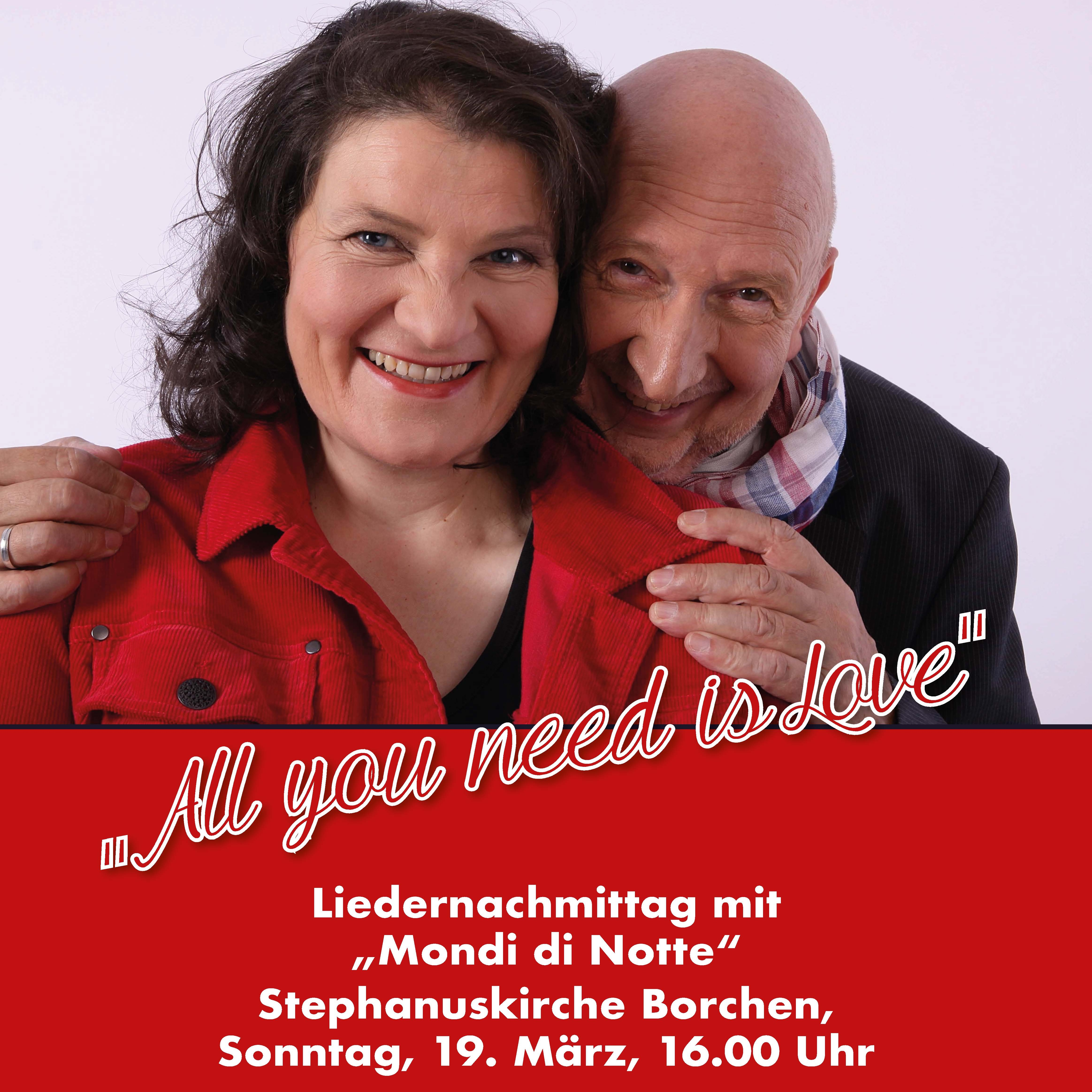 """Liedernachmittag in Borchen """"All you need is Love"""""""