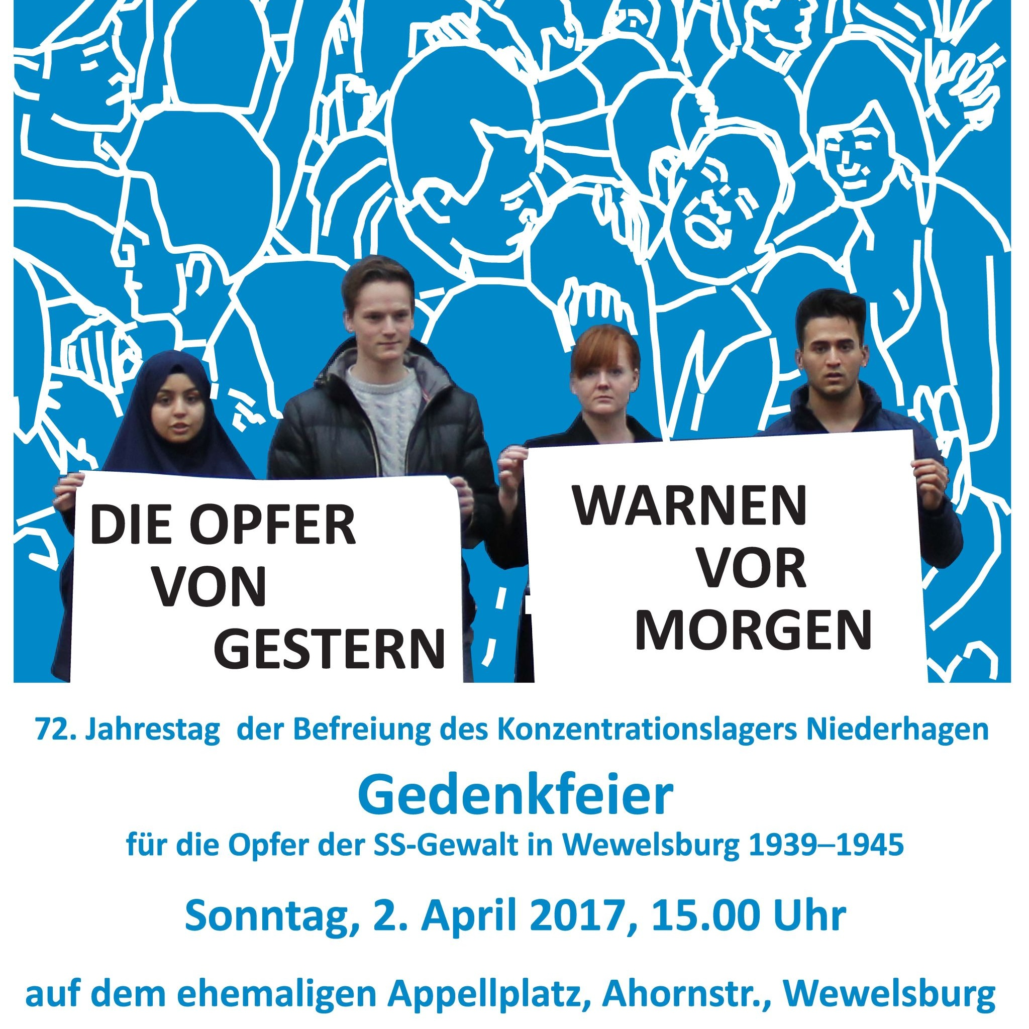 72. Jahrestag der Befreiung des Konzentrationslagers Niederhagen Gedenkfeier für die Opfer der SS-Gewalt in Wewelsburg 1933-1945