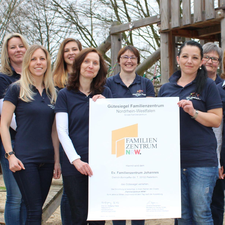 Evangelisches Familienzentrum Johannes rezertifiziert Hohes Qualitätsniveau erreicht