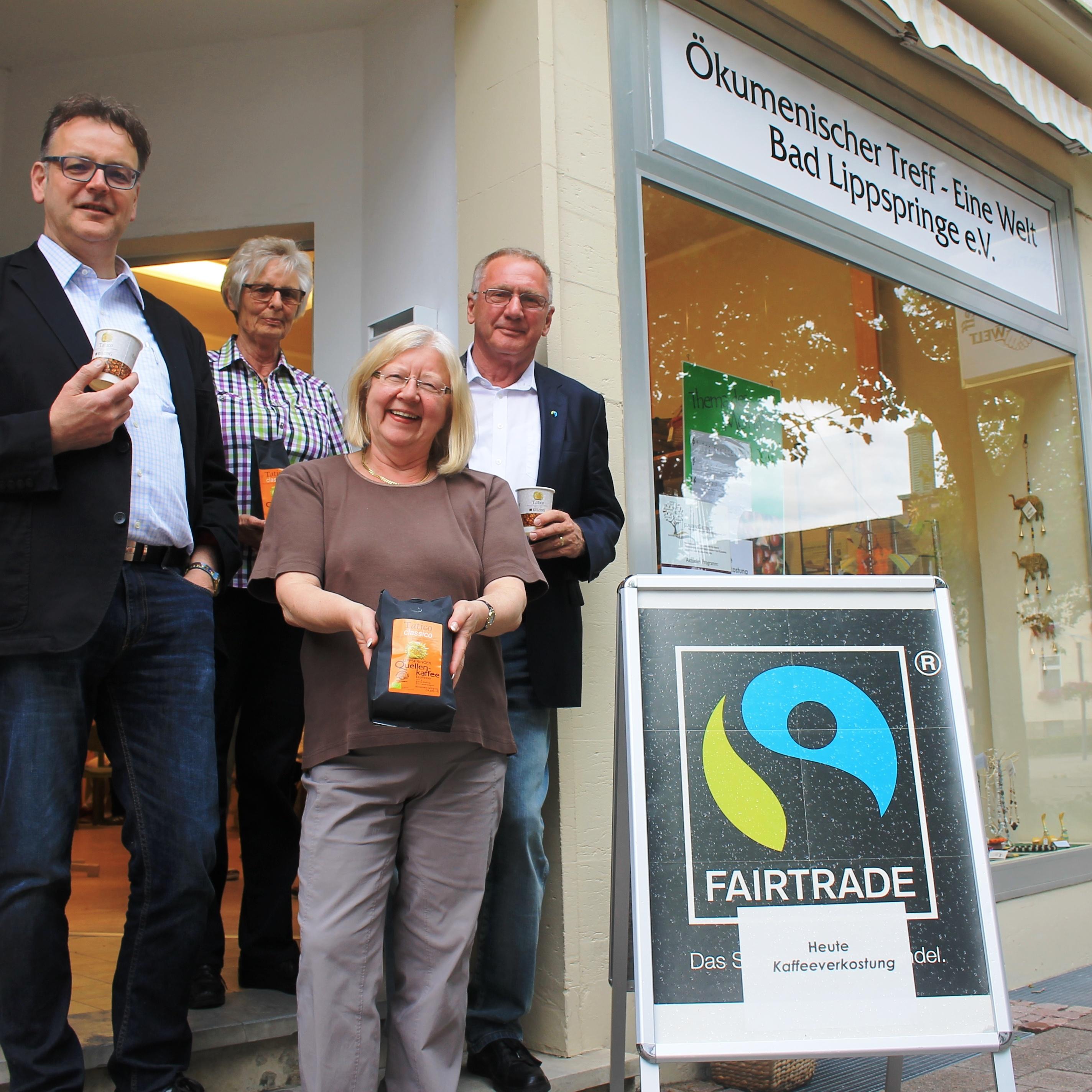 Kaffeeröster Klaus Langen gab wertvolle Infos zu fair gehandeltem Kaffee FairTrade-Kaffee zum Probieren