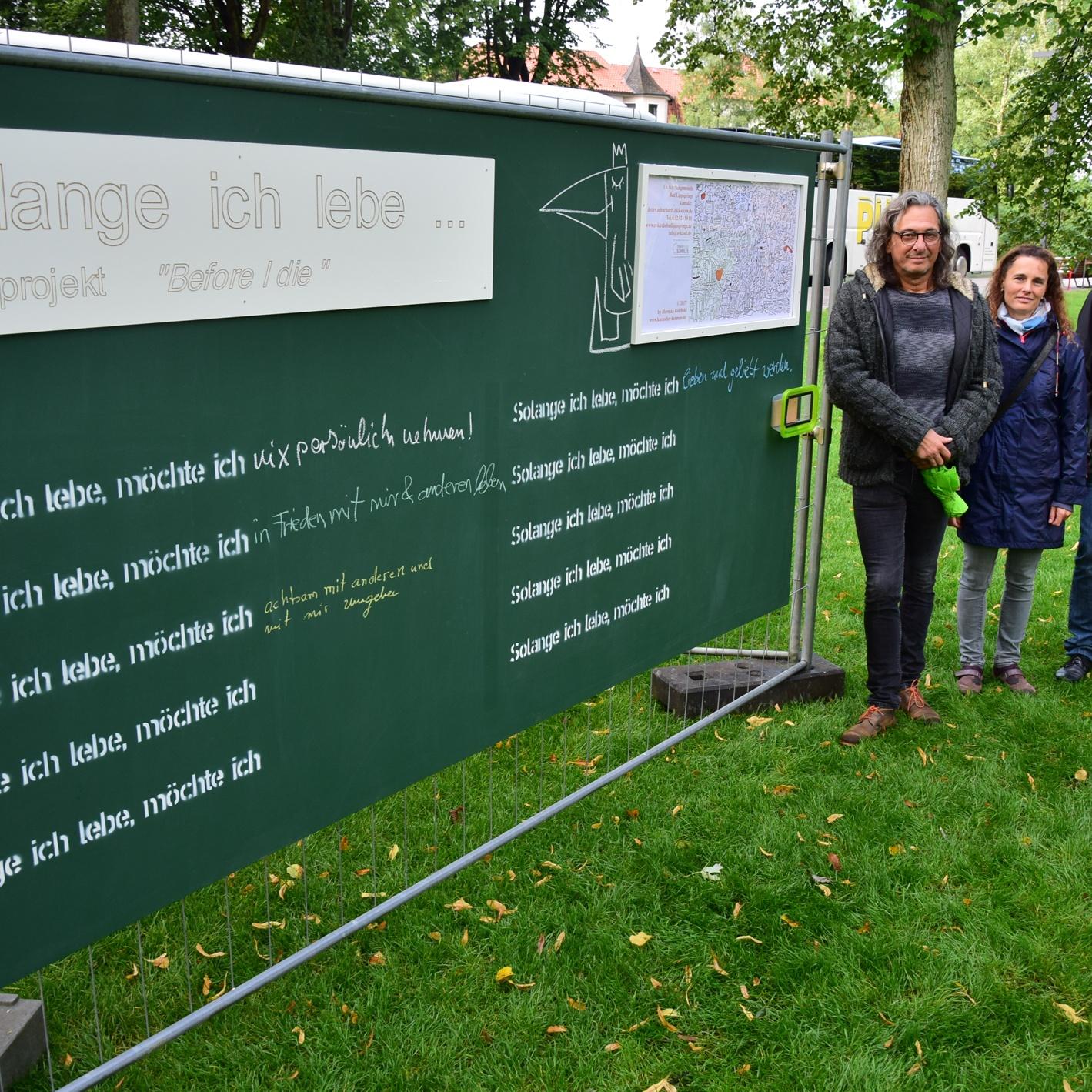 """Mitmach-Aktion an der Landesgartenschau in Bad Lippspringe """"Solange ich lebe, möchte ich…"""""""