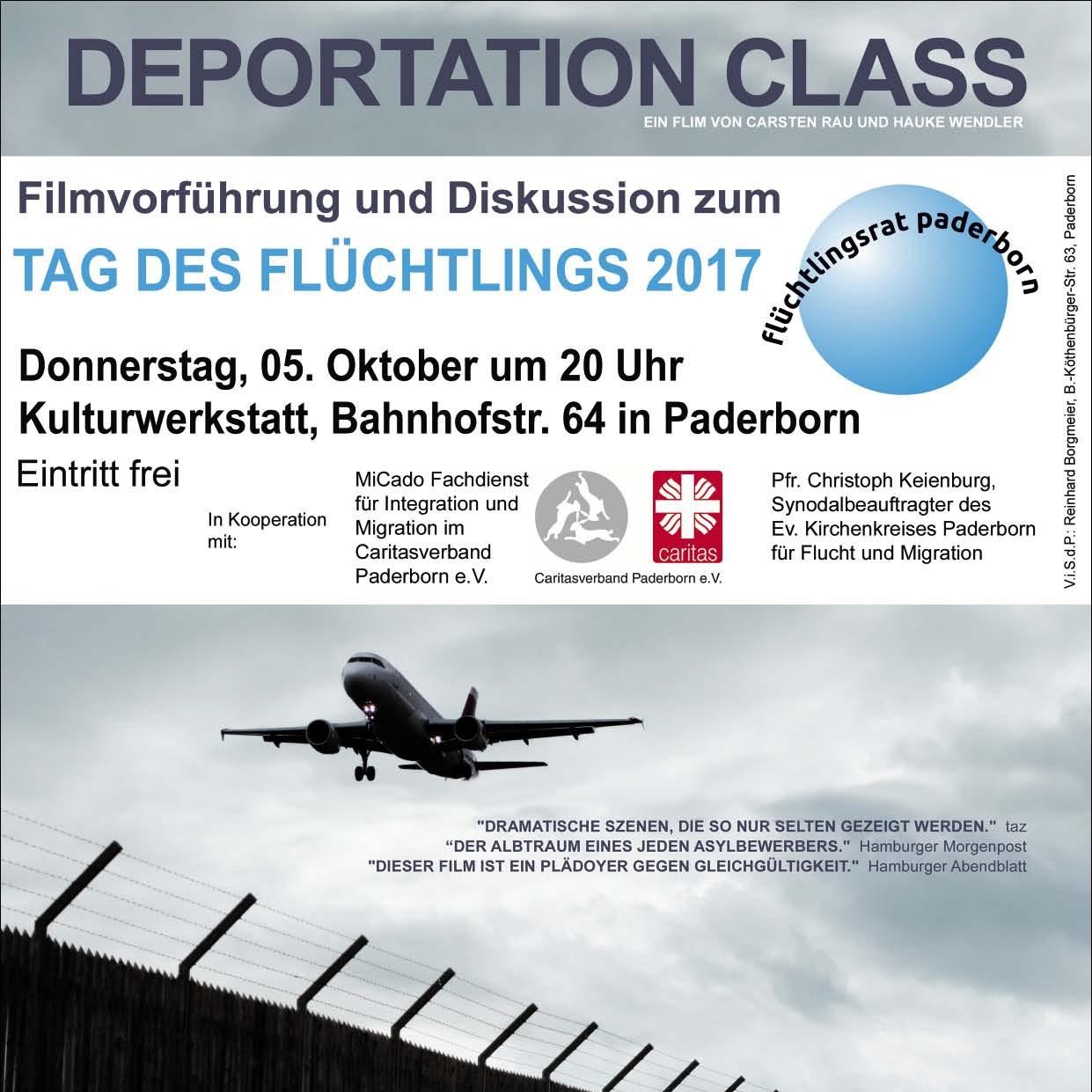 Veranstaltung des Flüchtlingsrat zum Tag des Flüchtlings 2017 Deportation Class