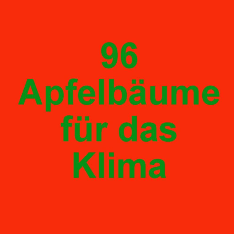 96 Apfelbäume für das Klima