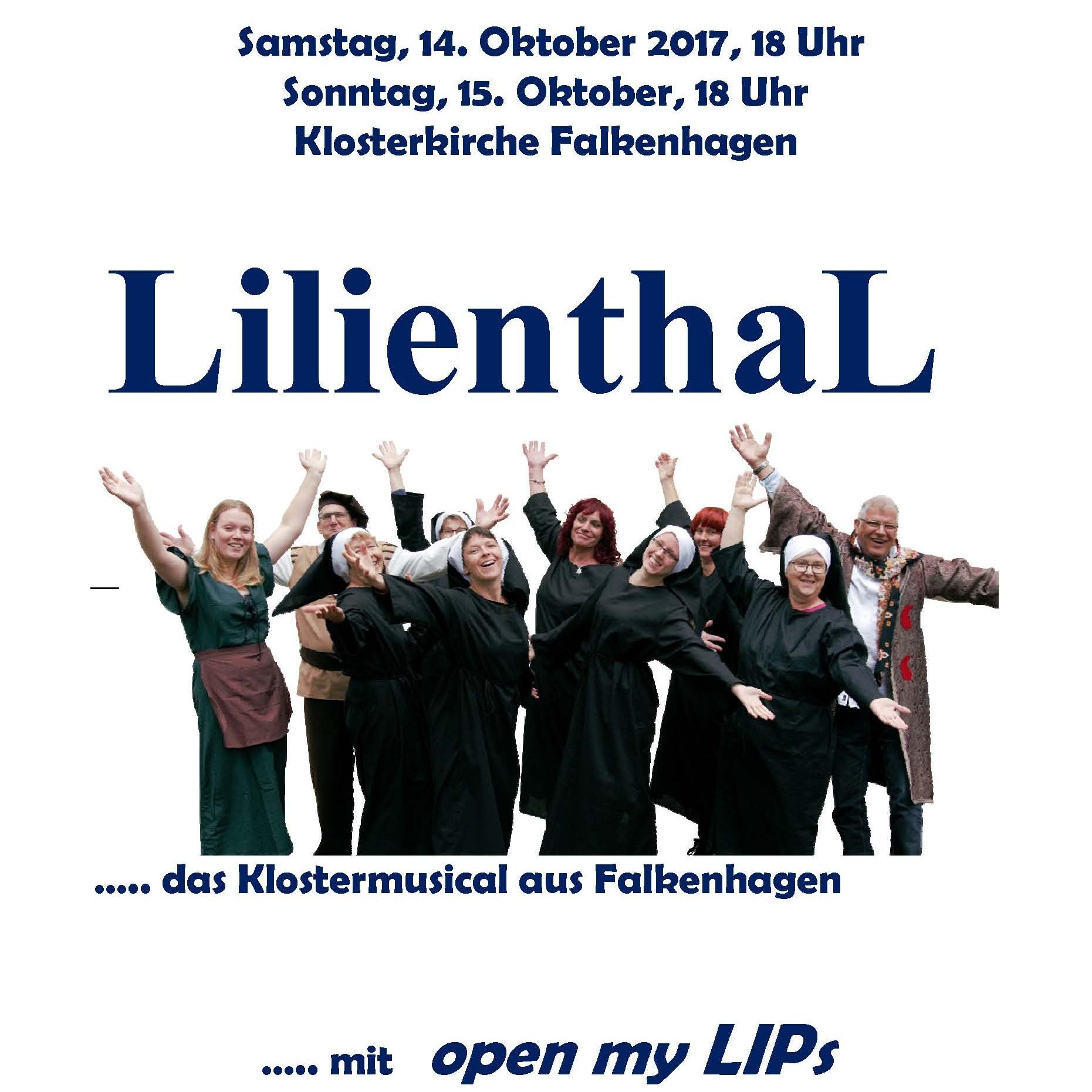 Am 14. und 15. Oktober in Lügde-Falkenhagen Lilienthal – das Klostermusical