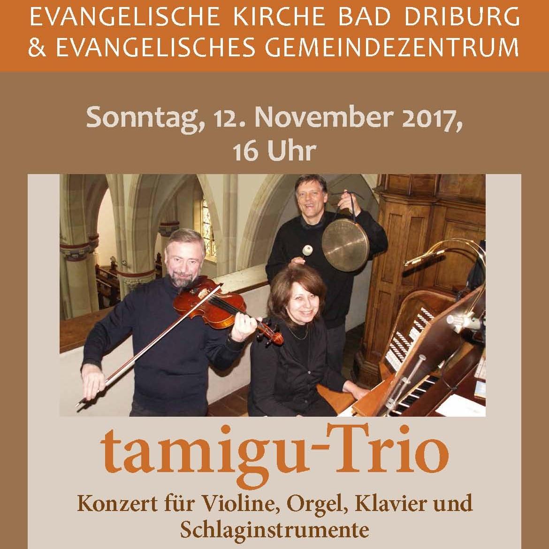 Wandelkonzert mit bekanntem Ensemble tamigu-Trio zu Gast in Bad Driburg