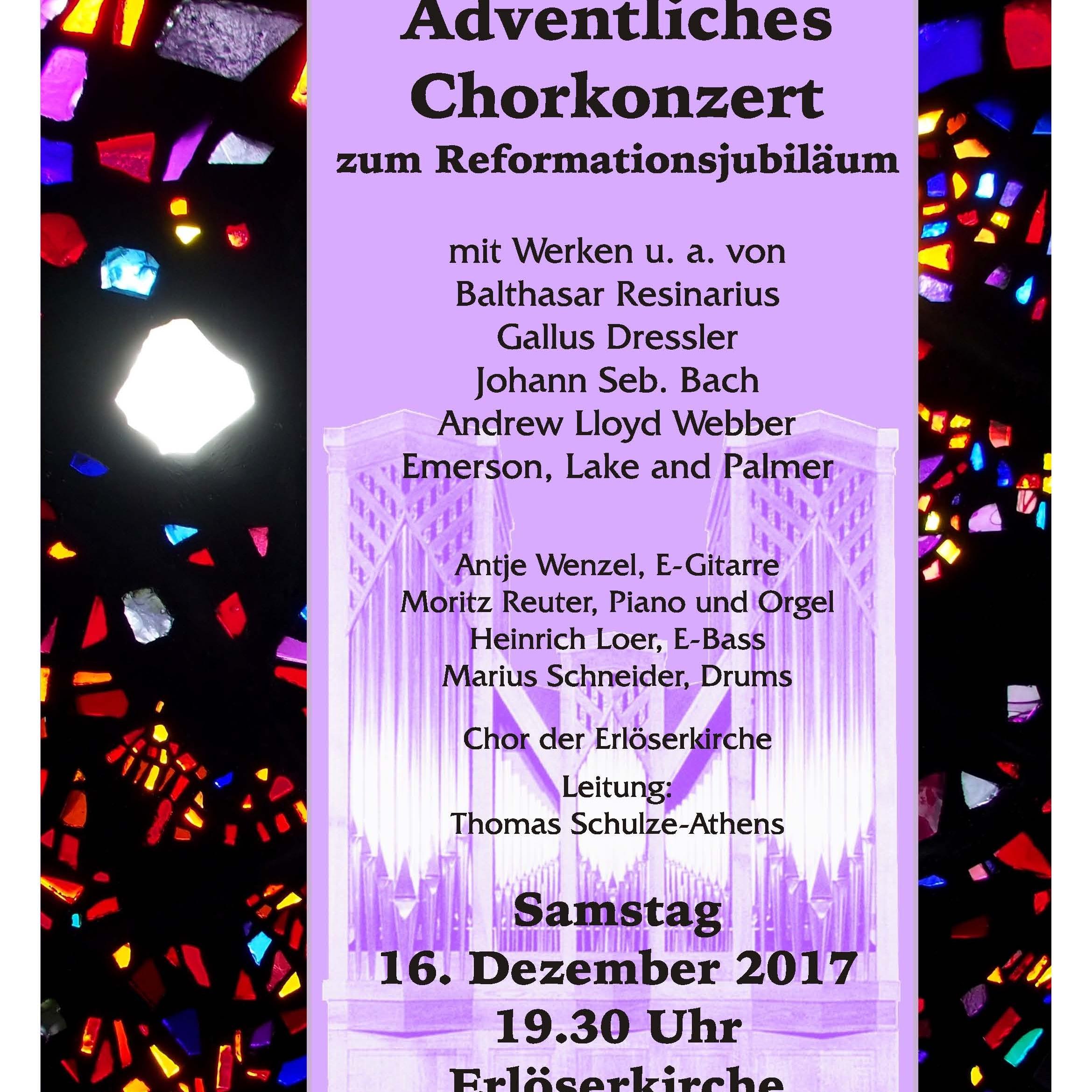 Am 16. Dezember in Elsen Musikalischer Nachschlag zum Reformationsjubiläum
