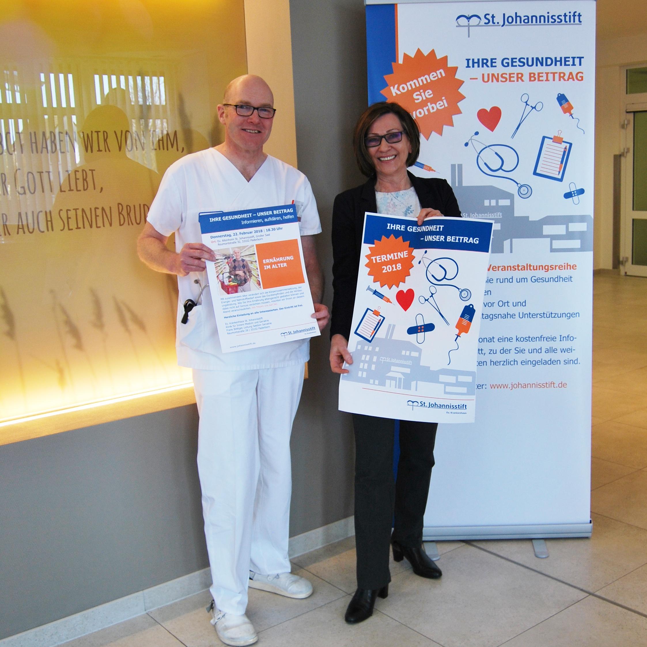 """Veranstaltungsreihe """"Ihre Gesundheit – Unser Beitrag"""" im Evangelischen Krankenhaus St. Johannisstift Informieren, aufklären und alltagsnahe Unterstützungen geben"""