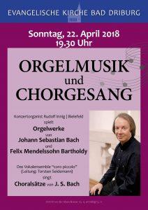 Orgelmusik und Chorgesang in Bad Driburg