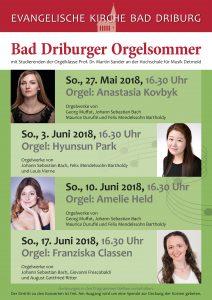 Bad Driburger Orgelsommer 2018