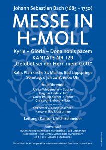Plakat Abschiedskonzert Kantor Schneider