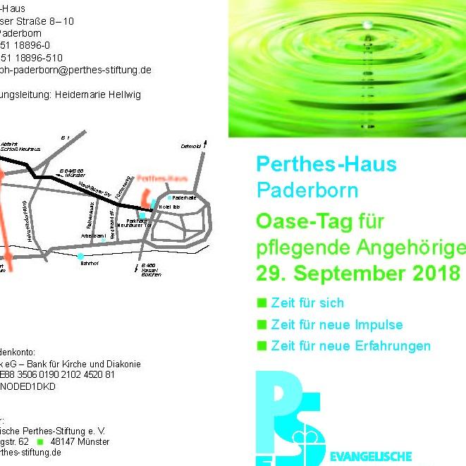 Am 29. September in Paderborn Oase-Tag für pflegende Angehörige im Perthes-Haus