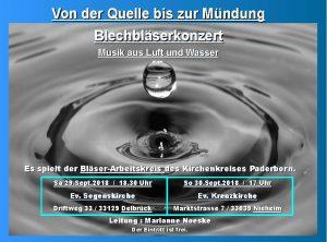 """Blechbläserkonzert """"Von der Quelle bis zur Mündung"""""""