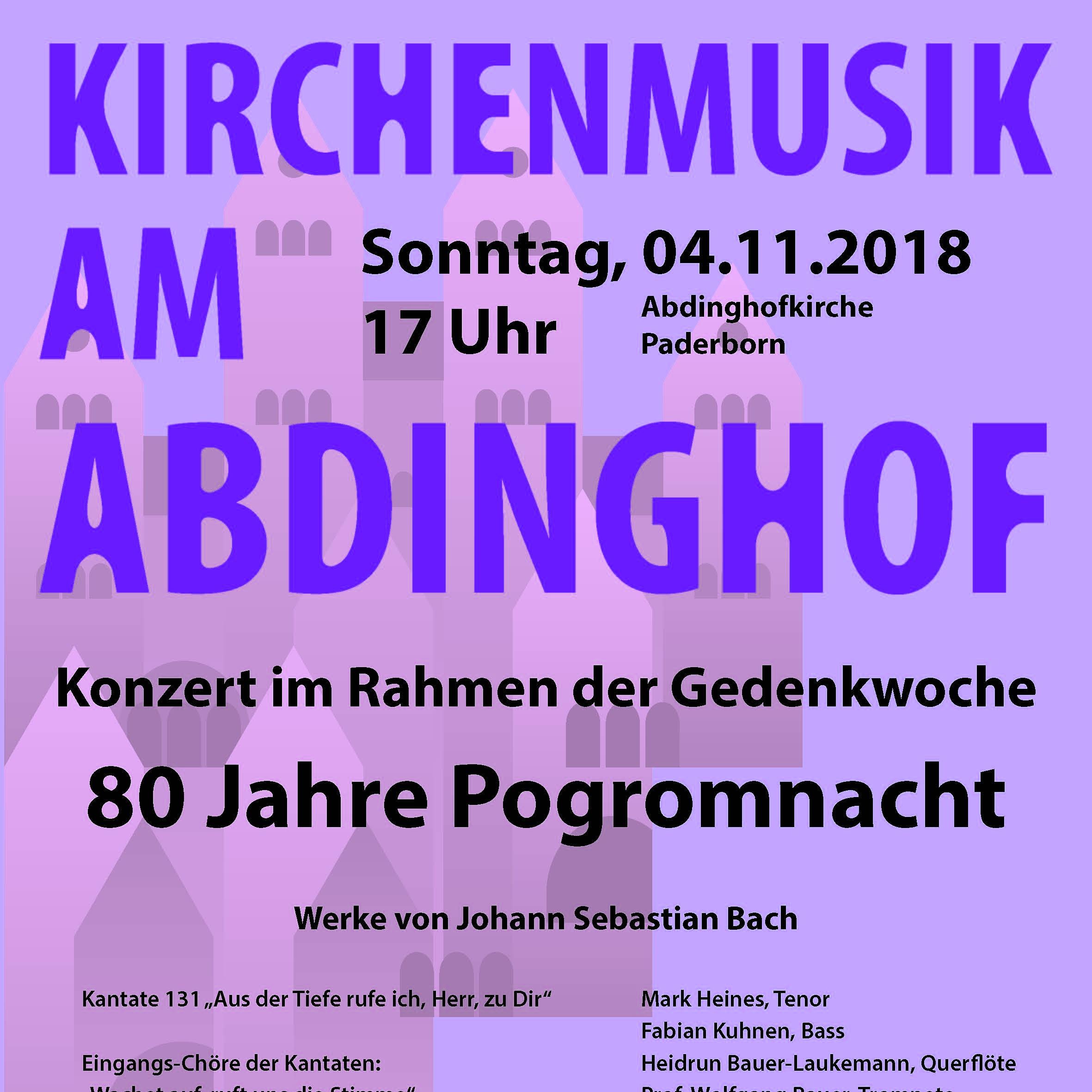Konzert zur  Reichspogromnacht