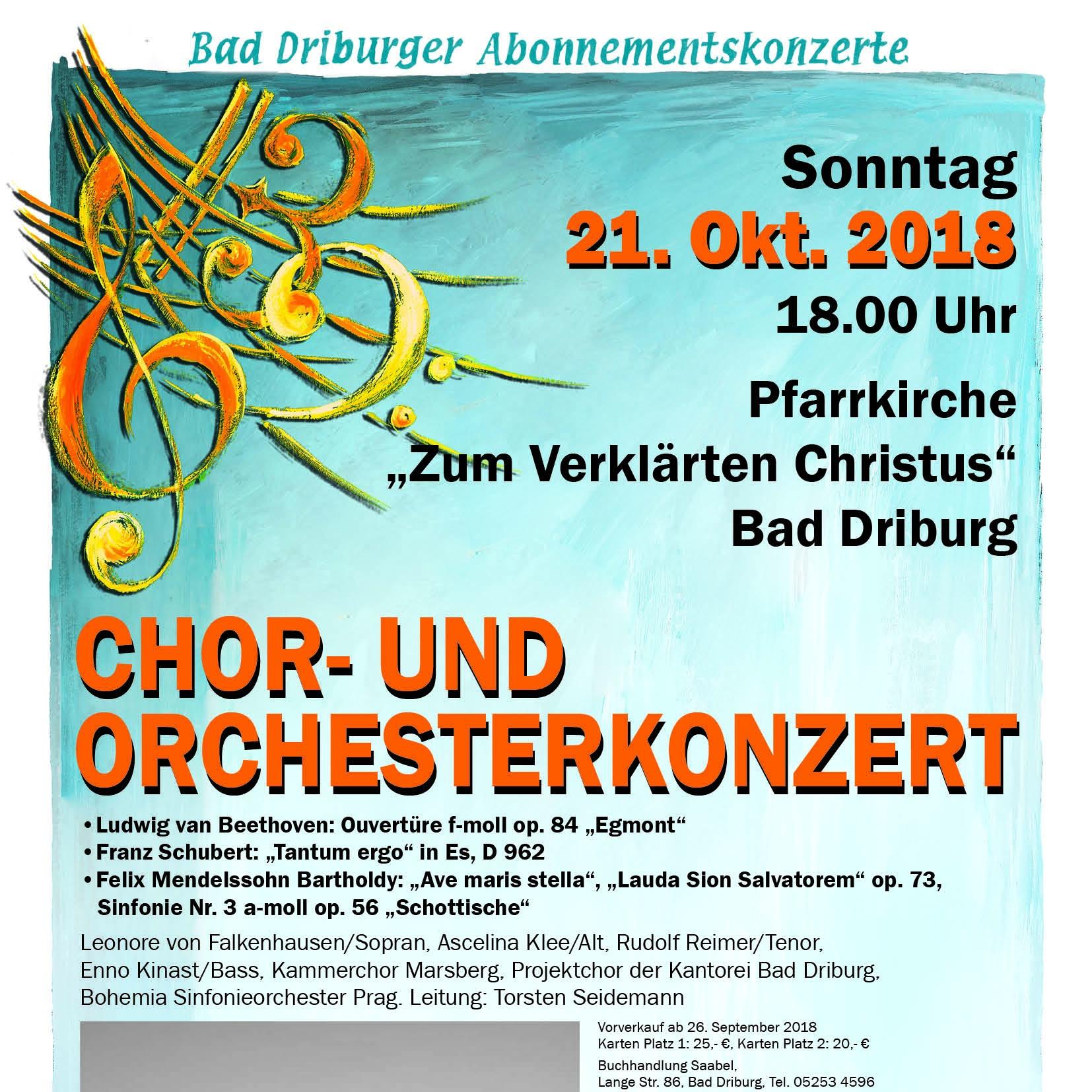 Chor- und Orchesterkonzert