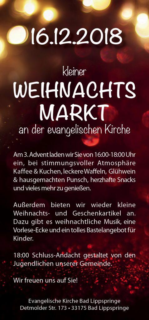 Kleiner Weihnachtsmarkt in Bad Lippspringe