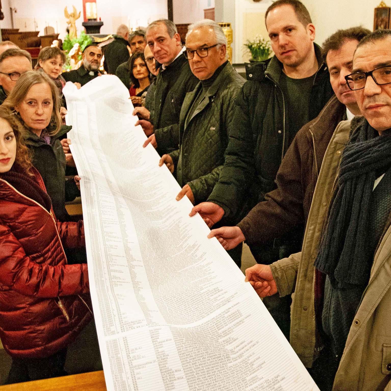 Eine lange Liste der Toten Das Forum der Religionen Paderborn gedenkt der fast 35 000 Menschen, die auf der Flucht nach Europa starben