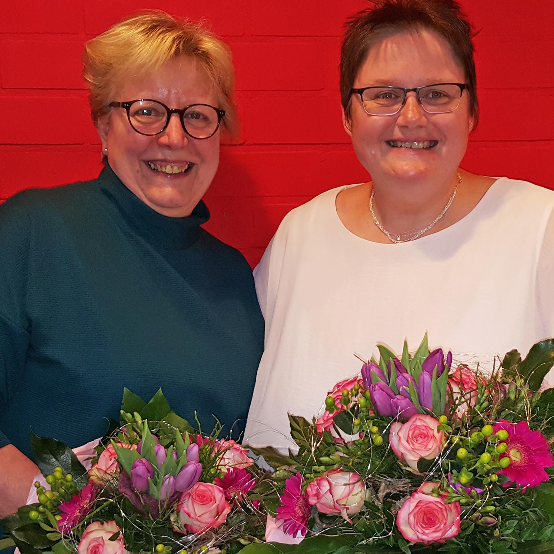Seit 25 Jahren im Ev. Katharina von Bora Familienzentrum Steinheim: Nicole Tasche und Heidemarie Kaiser
