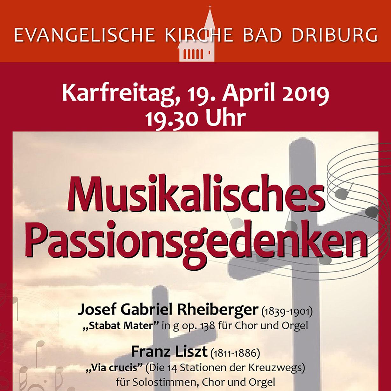 Am Karfreitag in Bad Driburg Musikalisches Passionsgedenken mit Werken der Romantik