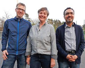 Das neue Sprecherteam des Forums der Religionen: (v.l.) Thomas Kemper, Antje Lütkemeier und Ahmed Alhajraui. FOTO: FdR