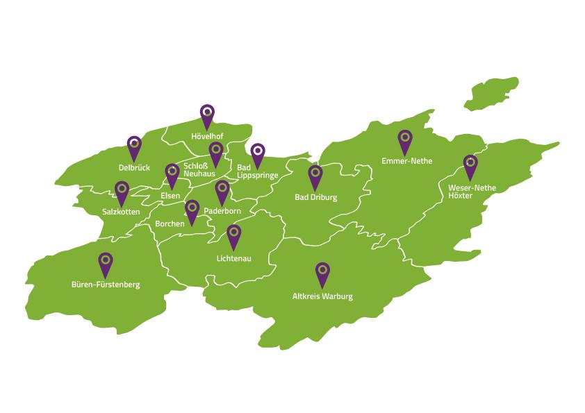 Die Gemeinden des Evangelischen Kirchenkreises Paderborn