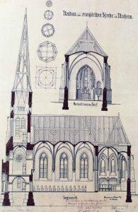 Historische Bauzeichnungen gaben Einblick in die Entstehungszeit der Nieheimer Kreuzkirche vor 150 Jahren. FOTOS: HEIDE WELSLAU