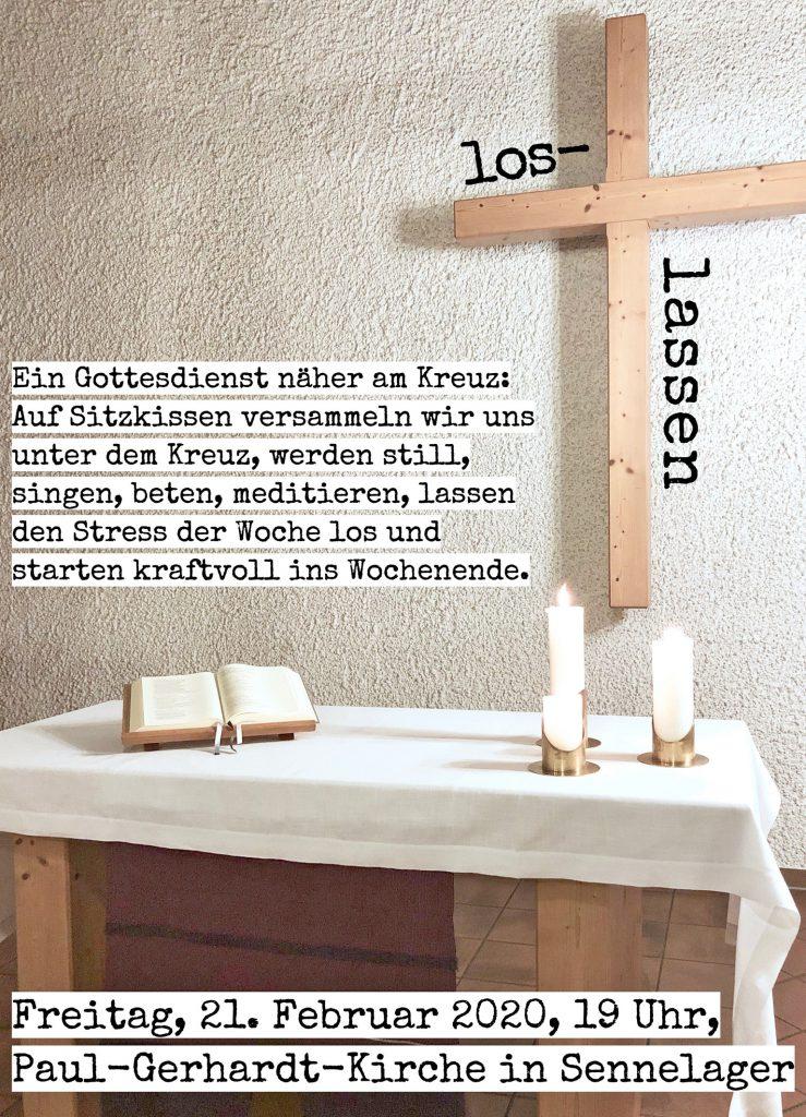 Einladungsplakat Gottesdienst am Freitag Sennelager