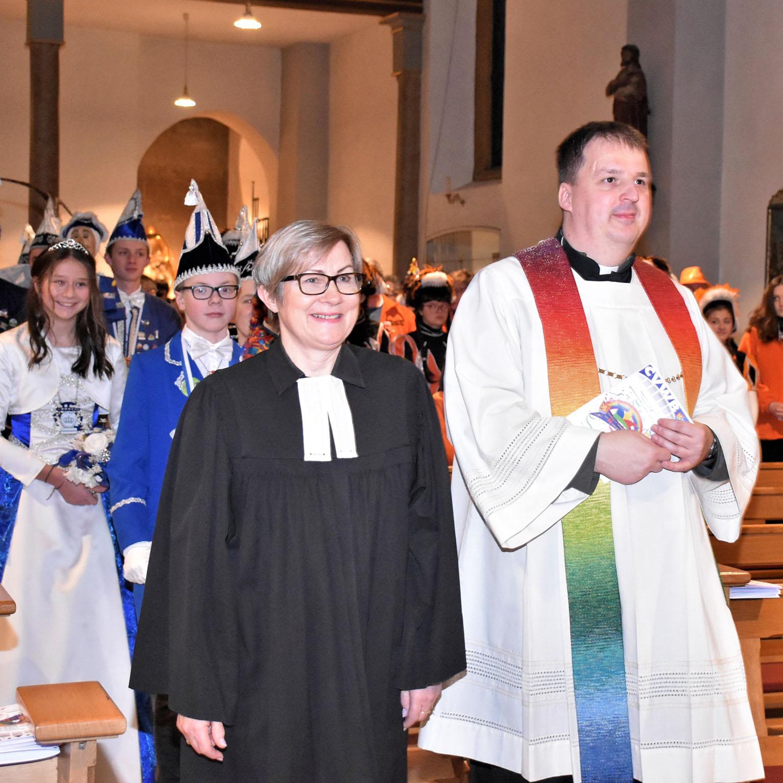 Ökumenischer Carnevals-Gottesdienst in Beverungen Biblische Büttenrede