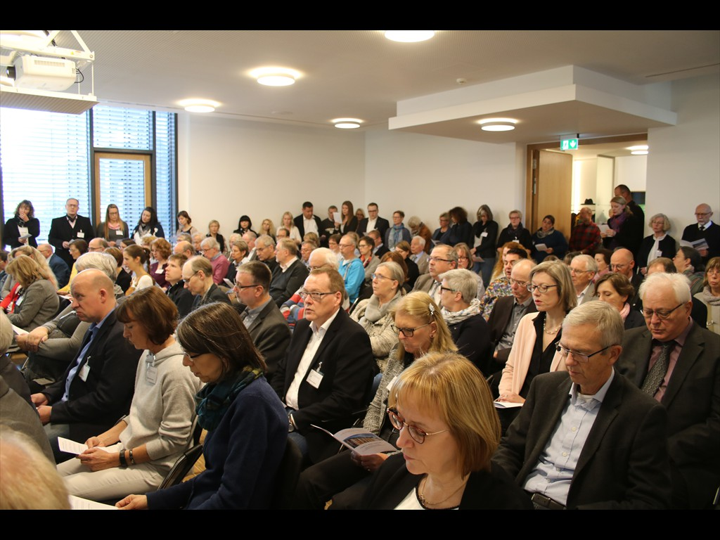 Im neuen Konferenzsaal im Anbau fand der Festakt zur (Wieder-) Eröffnung statt