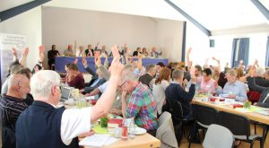 Miteinander diskutieren, Abstimmen und Beschlüsse fassen prägen die Synoden. Foto: EKP-Archiv Heide Welslau