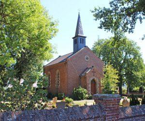 Die evangelische Martin-Luther-Kirche in Borgentreich (1878 eingeweiht) ist Übertragungsort des Radio-Gottesdienstes am 1. Januar 2017 in WDR 5.